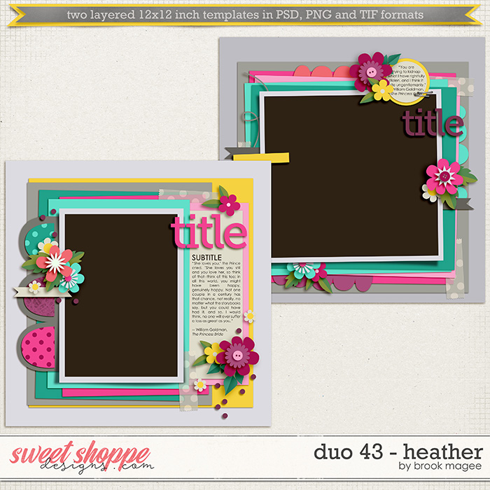 Brook's Templates - Duo 43 - Heather by Brook Magee