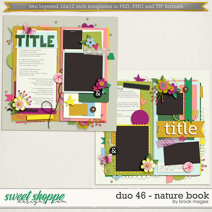 Brook's Templates - Duo 46 - Nature Book by Brook Magee