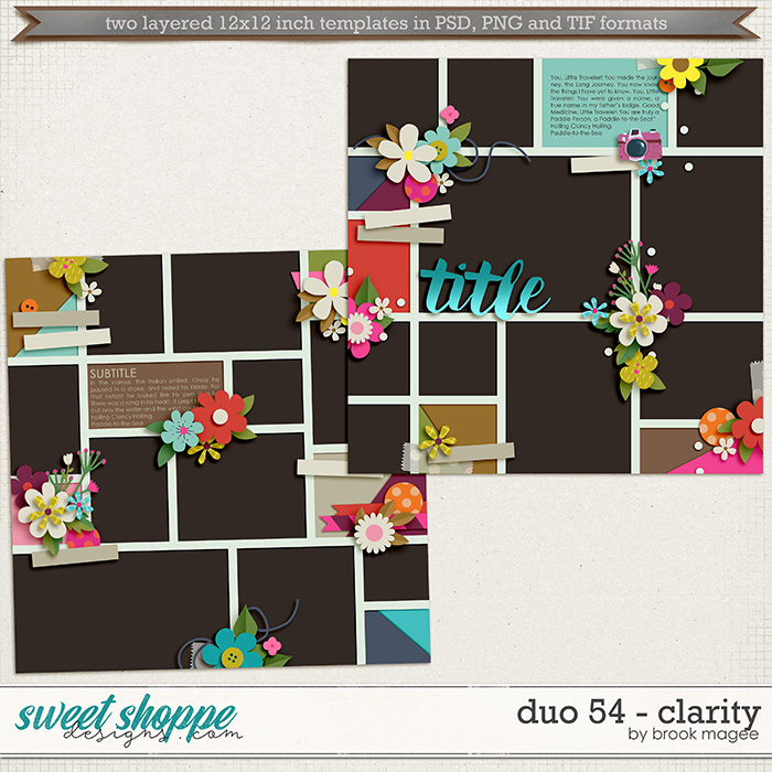 Brook's Templates - Duo 54 - Clarity by Brook Magee