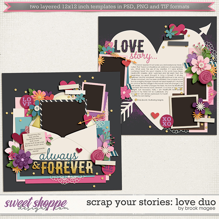 Brook's Templates - Scrap your Stories: Love Duo by Brook Magee