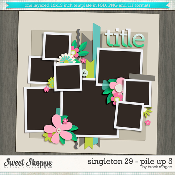 Brook's Templates - Singleton 29 - Pile Up 5 by Brook Magee