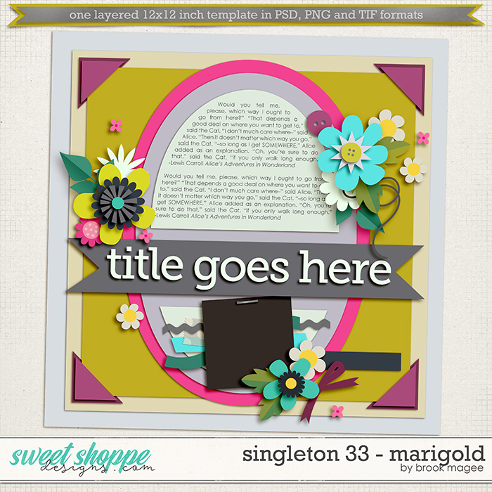 Brook's Templates - Singleton 33 - Marigold by Brook Magee