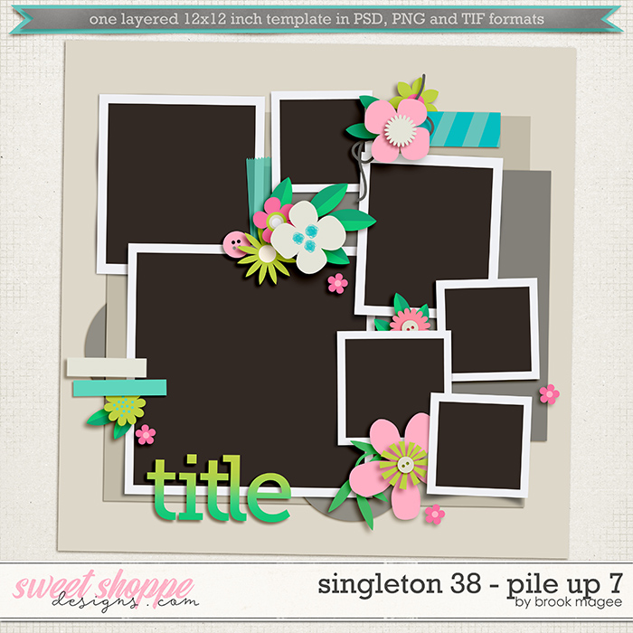 Brook's Templates - Singleton 38 - Pile Up 7 by Brook Magee