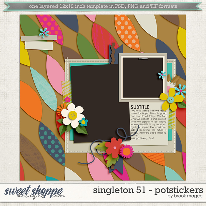 Brook's Templates - Singleton 51 - Potstickers by Brook Magee