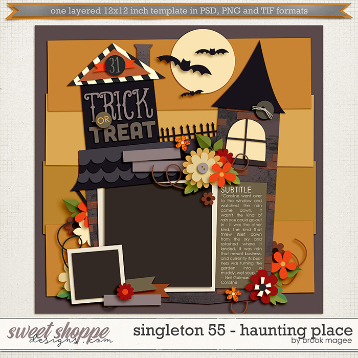 Brook's Templates - Singleton 55 - Haunting Place by Brook Magee