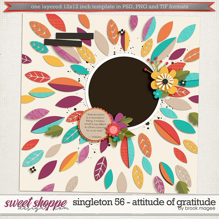 Brook's Templates - Singleton 56 - Attitude of Gratitude