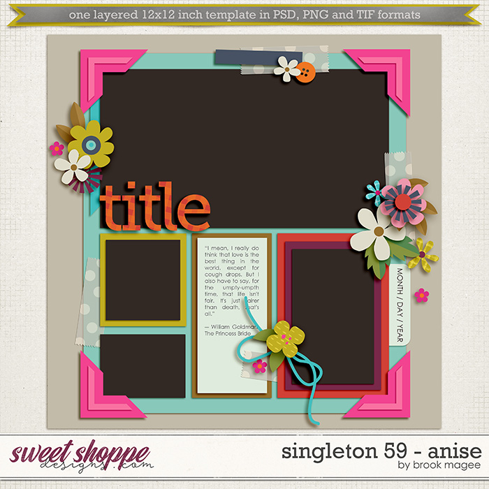 Brook's Templates - Singleton 59 - Anise by Brook Magee