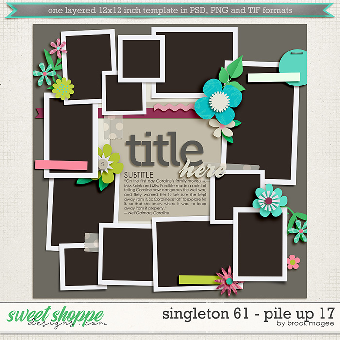 Brook's Templates - Singleton 61 - Pile Up 17 by Brook Magee
