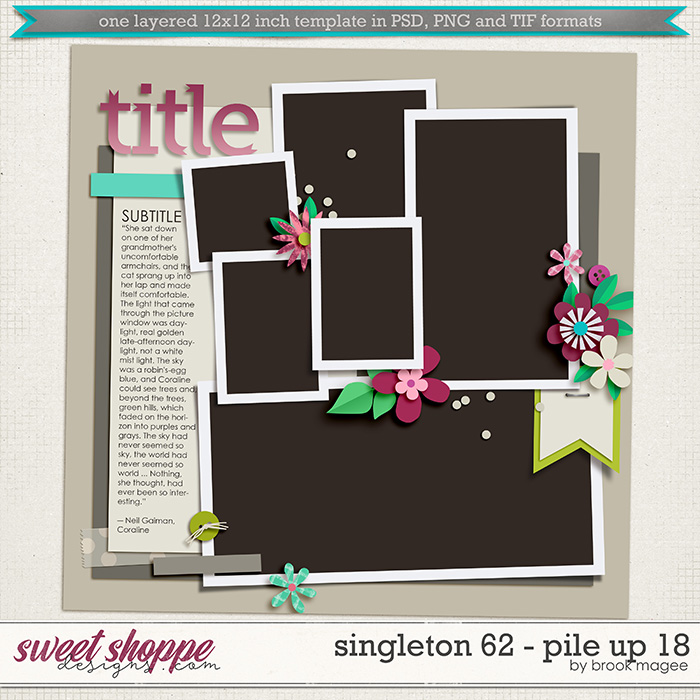 Brook's Templates - Singleton 62 - Pile Up 18 by Brook Magee