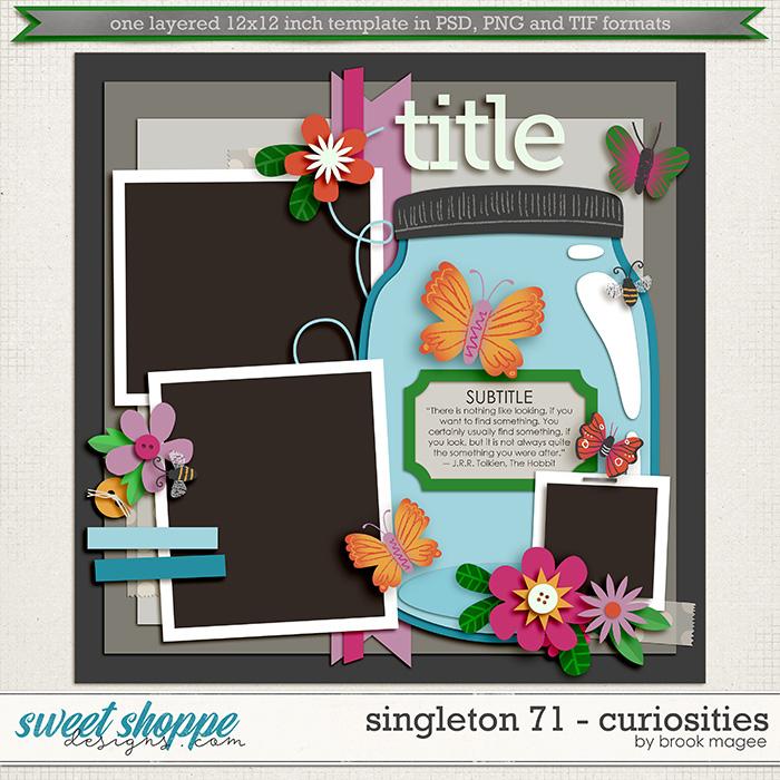 Brook's Templates - Singleton 71 - Curiosities by Brook Magee