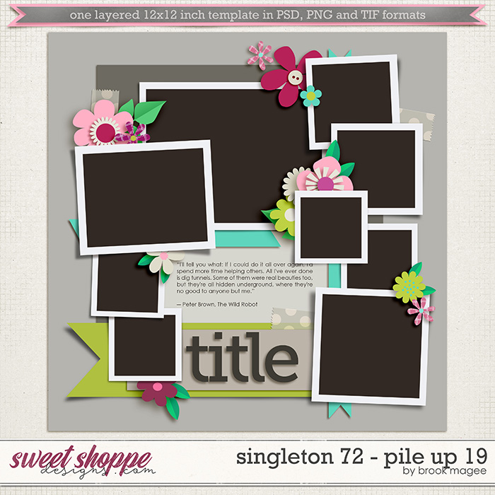 Brook's Templates - Singleton 72 - Pile Up 19 by Brook Magee