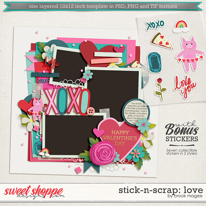 Brook's Templates - Stick-N-Scrap: Love by Brook Magee