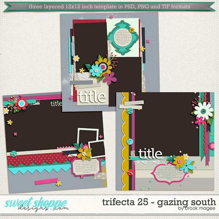 Brook's Templates - Trifecta 25 - Gazing South by Brook Magee