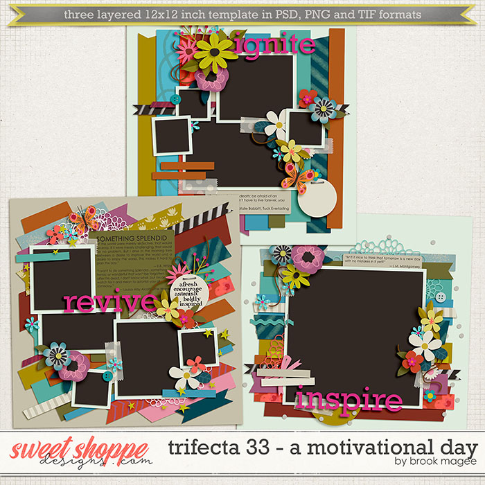 Brook's Templates - Trifecta 33 - A Motivational Day by Brook Magee