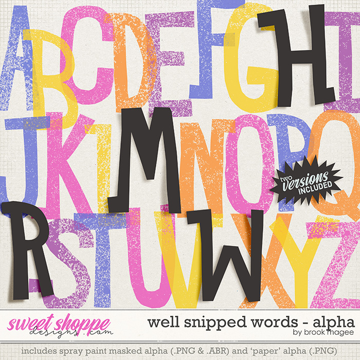 Well Snipped Words - Alpha by Brook Magee