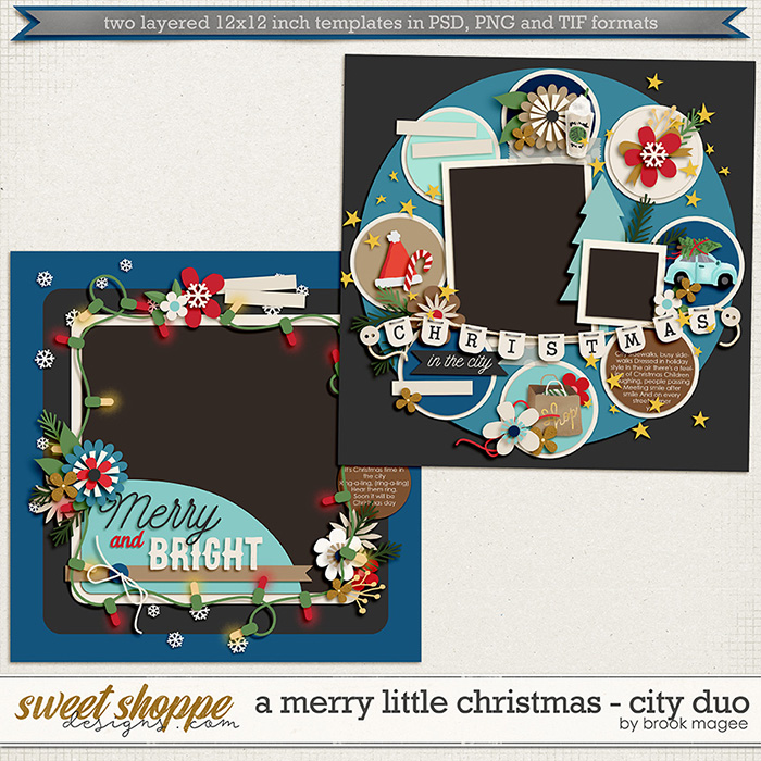 Brook's Templates - Merry Little Christmas - City Duo by Brook Magee