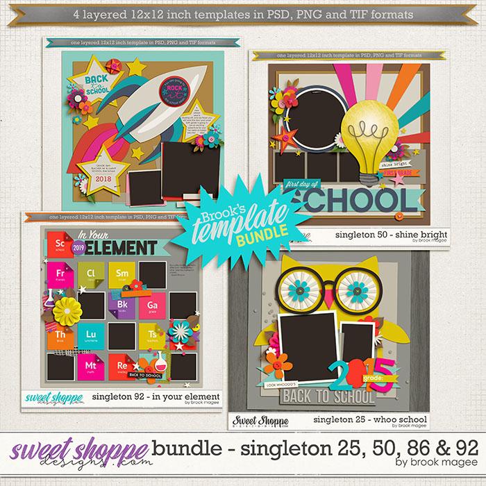 Brook's Templates - Bundle - Singleton 25, 50, 86 & 92 by Brook Magee