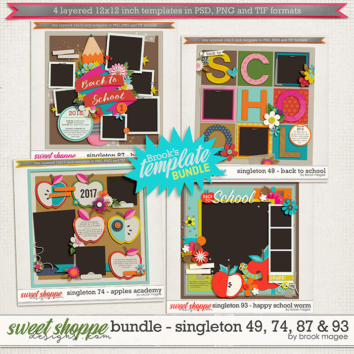 Brook's Templates - Bundle - Singleton 49, 74, 87 & 93 by Brook Magee
