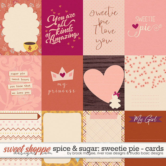 Spice & Sugar: Sweetie Pie Cards by Brook Magee, River Rose and Studio Basic