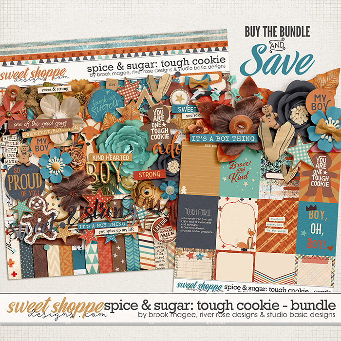 Spice & Sugar: Tough Cookie Bundle by Brook Magee, River Rose and Studio Basic