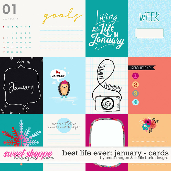 Best Life Ever: January Cards by Brook Magee and Studio Basic