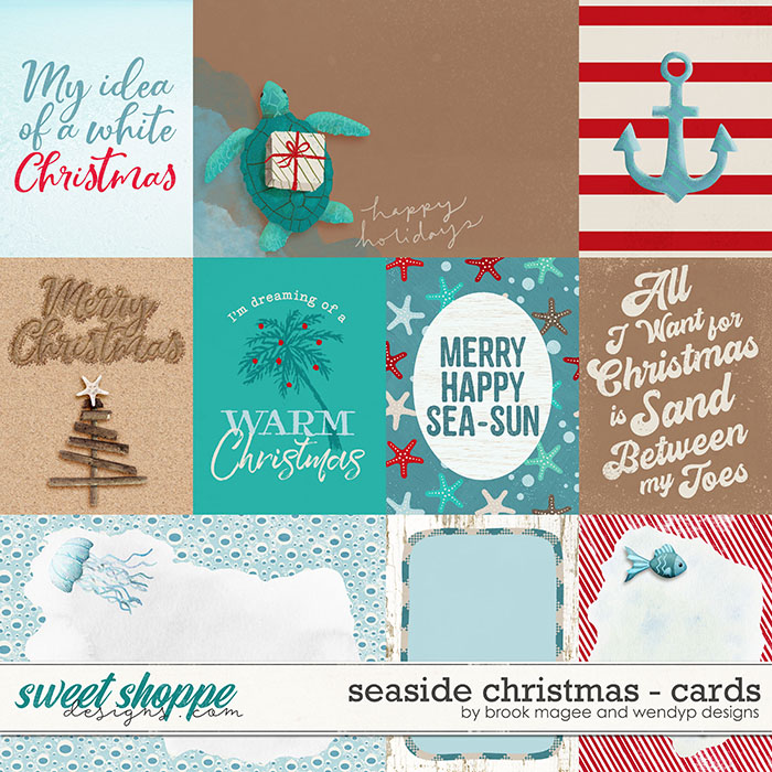 Seaside Christmas - cards by Brook Magee & WendyP Designs