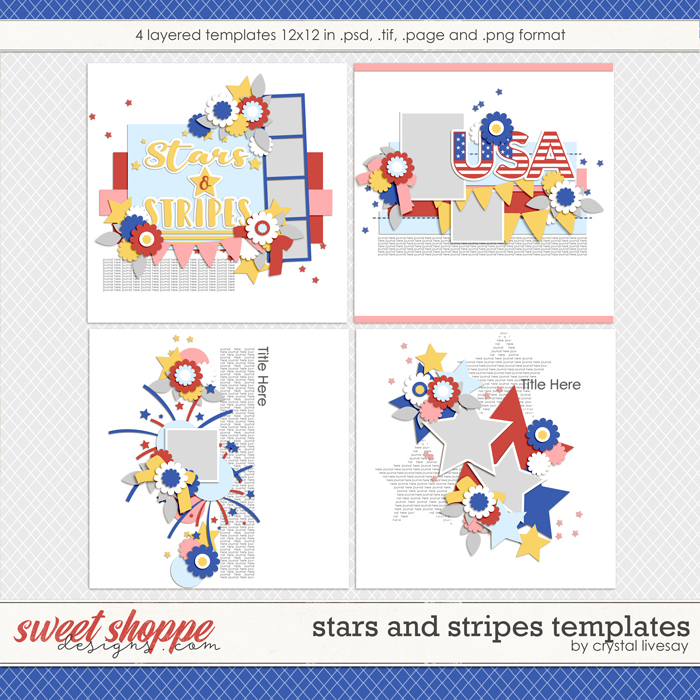 Stars and Stripes Templates by Crystal Livesay