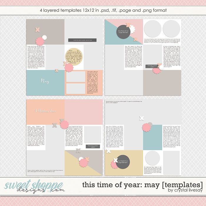 This Time of Year: May [Templates] by Crystal Livesay