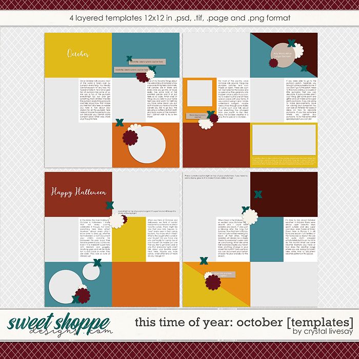 This Time of Year: October [Templates] by Crystal Livesay