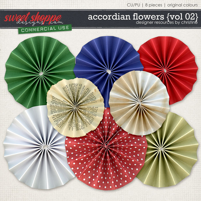 Accordian Flowers {Vol 02} by Christine Mortimer