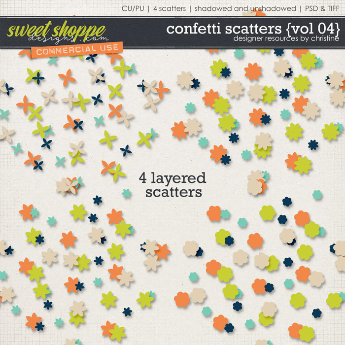 Confetti Scatters {Vol 04} by Christine Mortimer