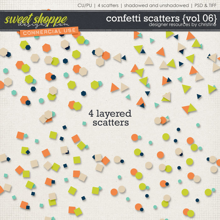 Confetti Scatters {Vol 06} by Christine Mortimer