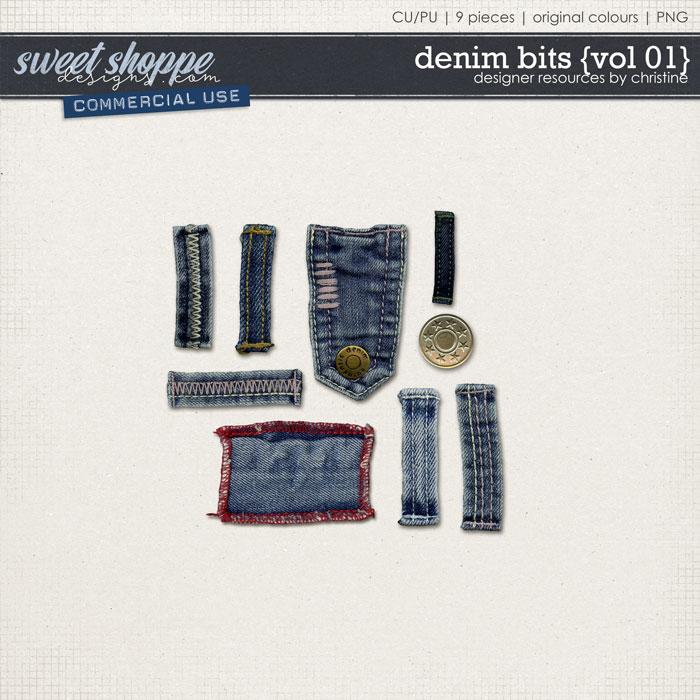 Denim Bits {Vol 01} by Christine Mortimer