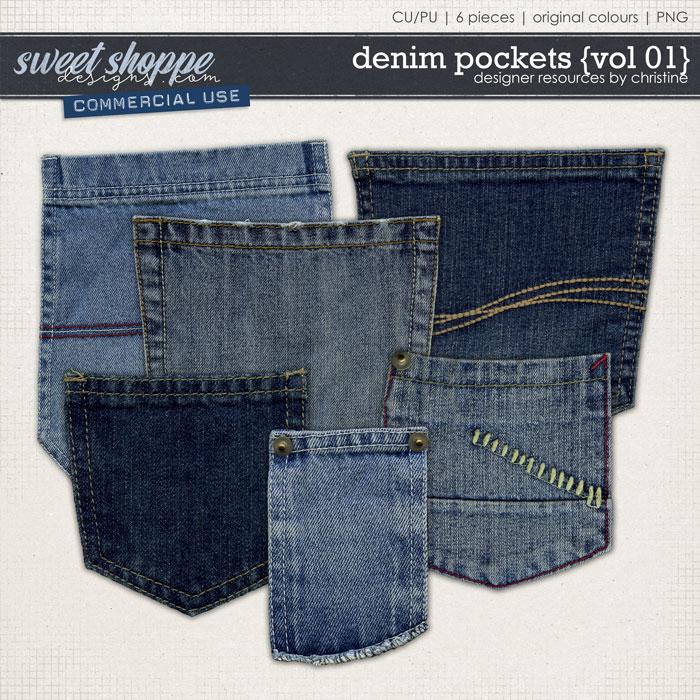 Denim Pockets {Vol 01} by Christine Mortimer