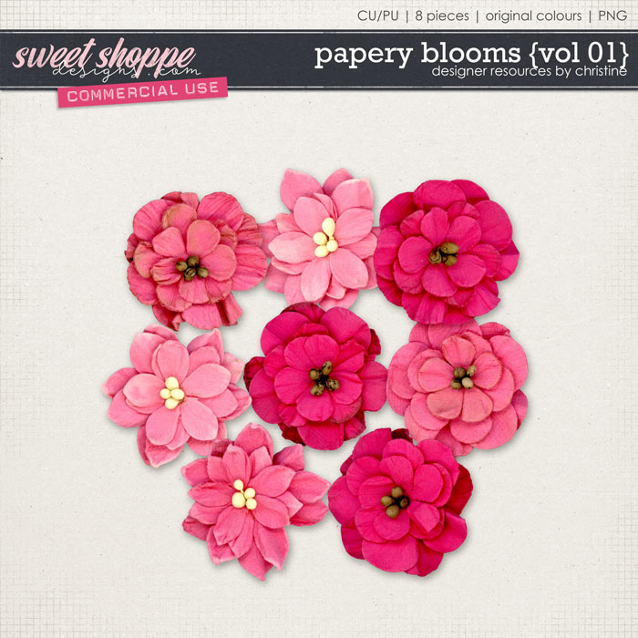 Papery Blooms {Vol 01} by Christine Mortimer