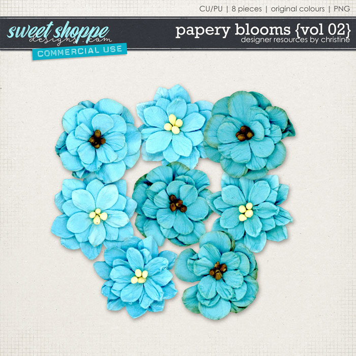 Papery Blooms {Vol 02} by Christine Mortimer