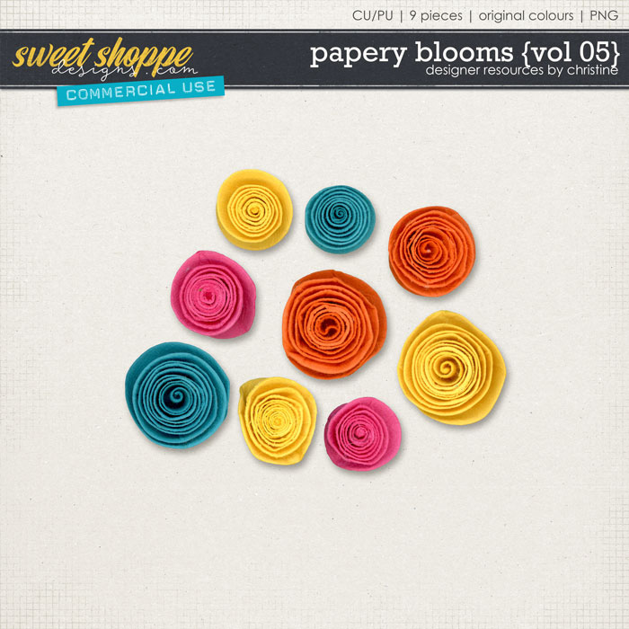 Papery Blooms {Vol 05} by Christine Mortimer
