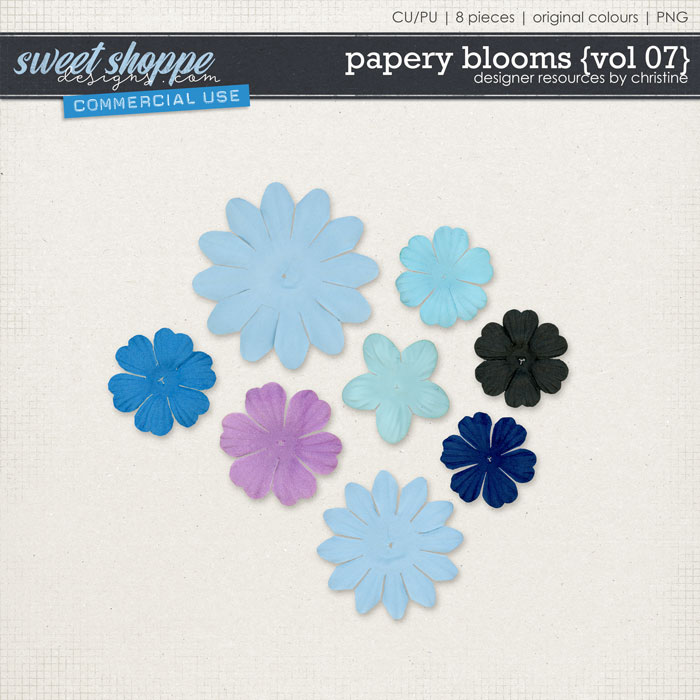 Papery Blooms {Vol 07} by Christine Mortimer
