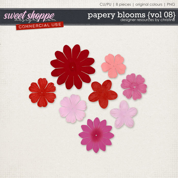 Papery Blooms {Vol 08} by Christine Mortimer