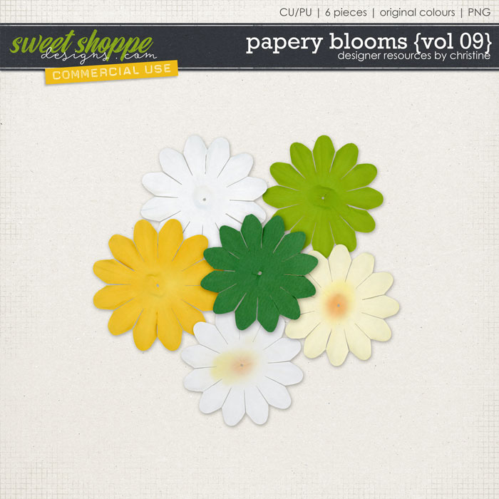 Papery Blooms {Vol 09} by Christine Mortimer