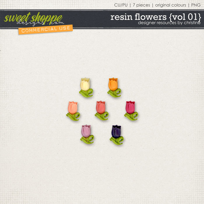 Resin Flowers {Vol 01} by Christine Mortimer