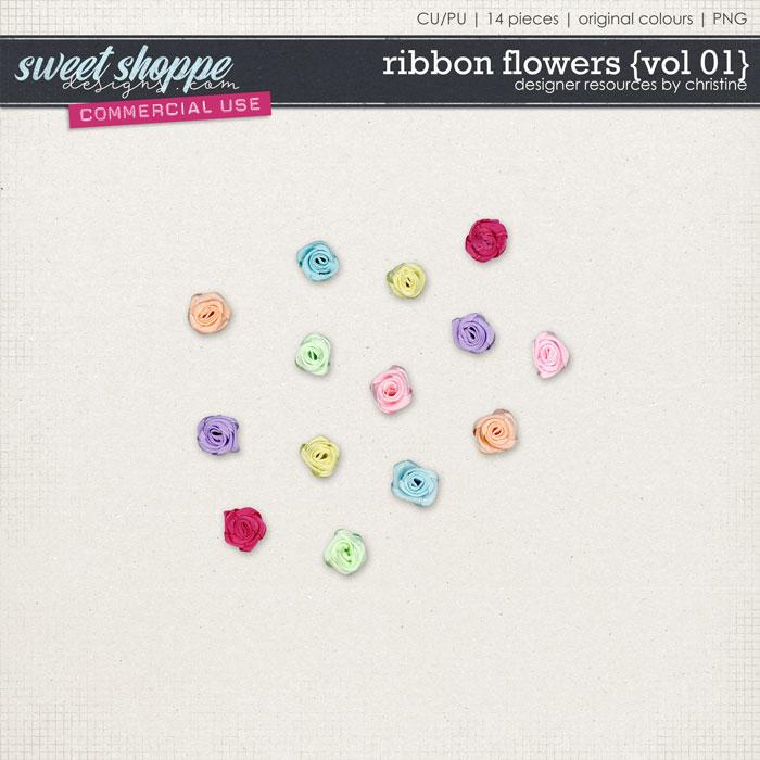 Ribbon Flowers {Vol 01} by Christine Mortimer