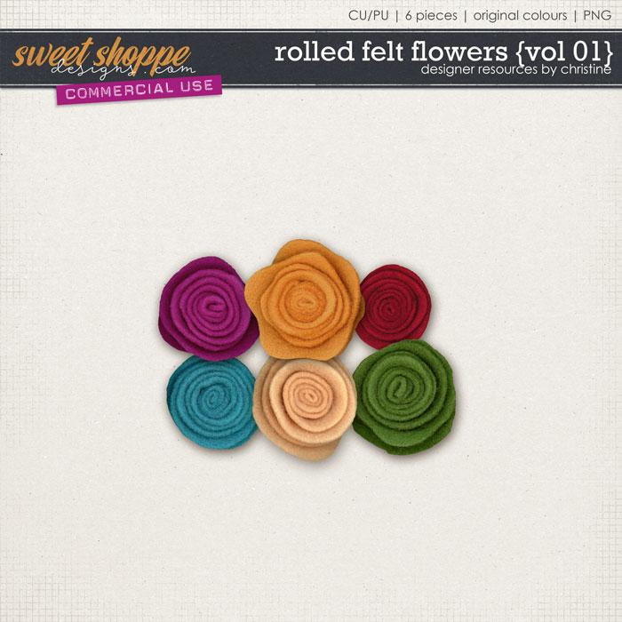Rolled Felt Flowers {Vol 01} by Christine Mortimer