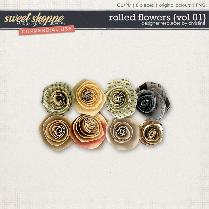 Rolled Flowers {Vol 01} by Christine Mortimer
