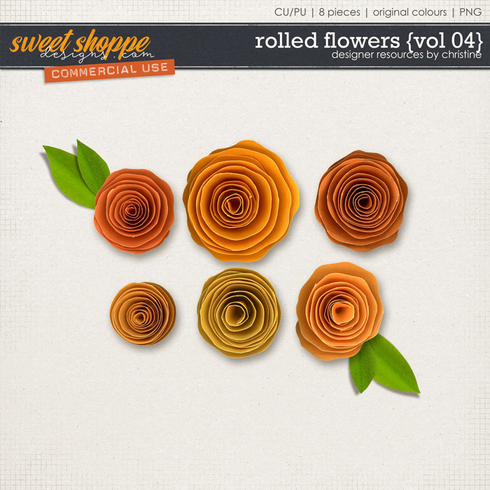 Rolled Flowers {Vol 04} by Christine Mortimer