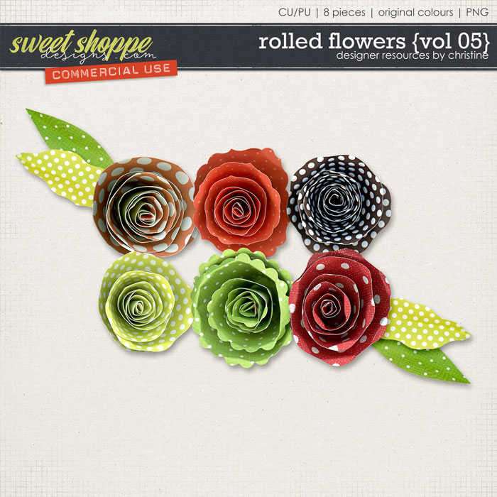 Rolled Flowers {Vol 05} by Christine Mortimer
