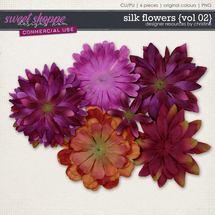 Silk Flowers {Vol 02} by Christine Mortimer