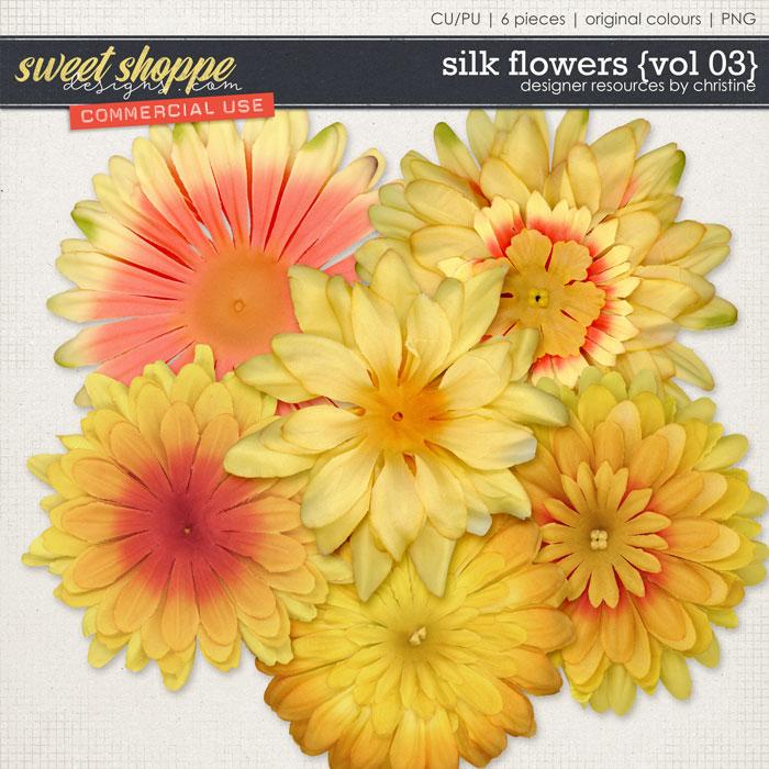 Silk Flowers {Vol 03} by Christine Mortimer