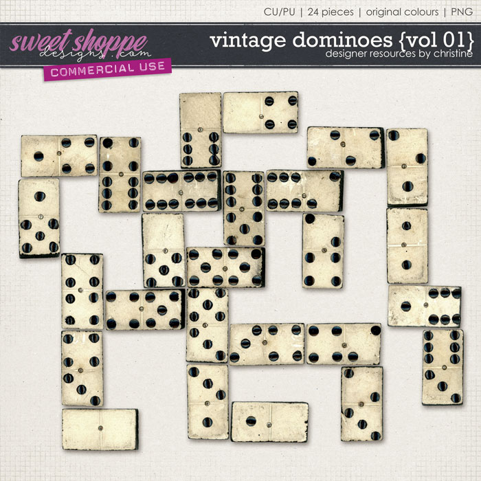 Vintage Dominoes {Vol 01} by Christine Mortimer