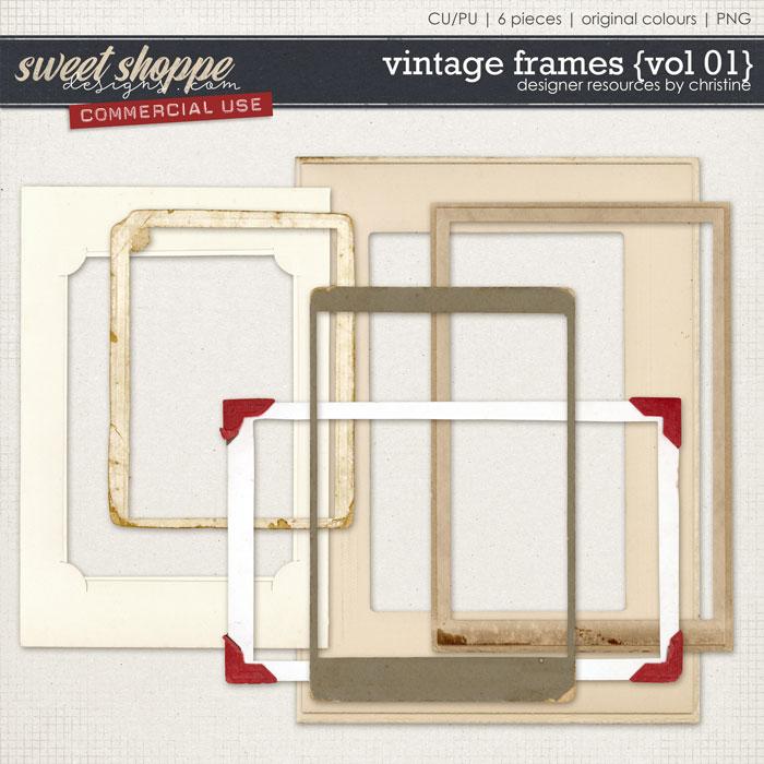Vintage Frames {Vol 01} by Christine Mortimer